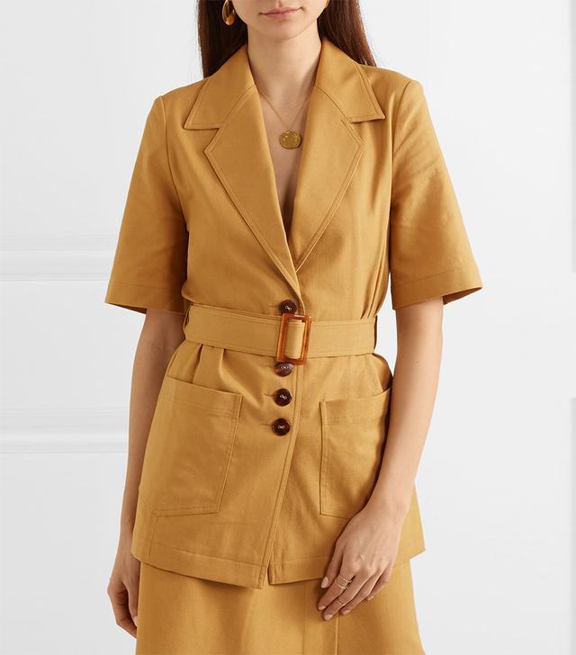 Lou Lou Cotton And Linen-blend Jacket