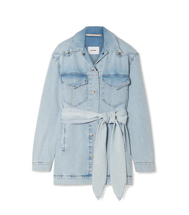 Oversized Belted Denim Jacket