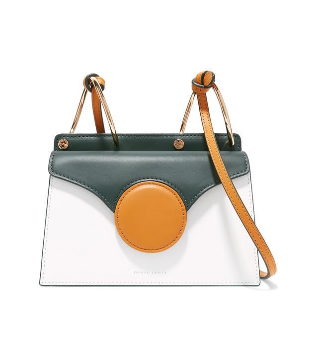 Phoebe Mini Color-block Leather Shoulder Bag