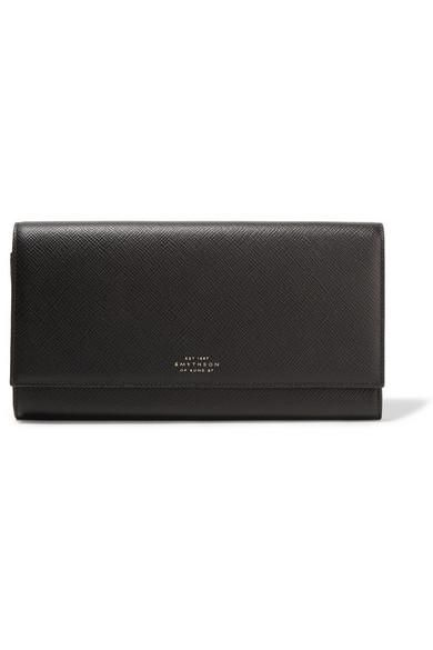 Panama Marshall Textured-Leather Travel Wallet