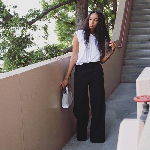 Tank and Wide-Leg Trousers for Graduation