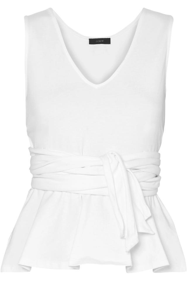 Claire Tie-Front Cotton-Jersey Top