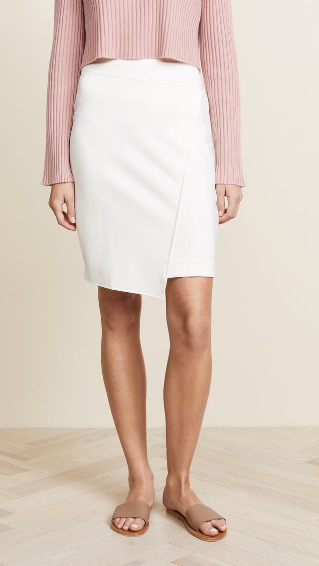 Ponte Faux Wrap Skirt