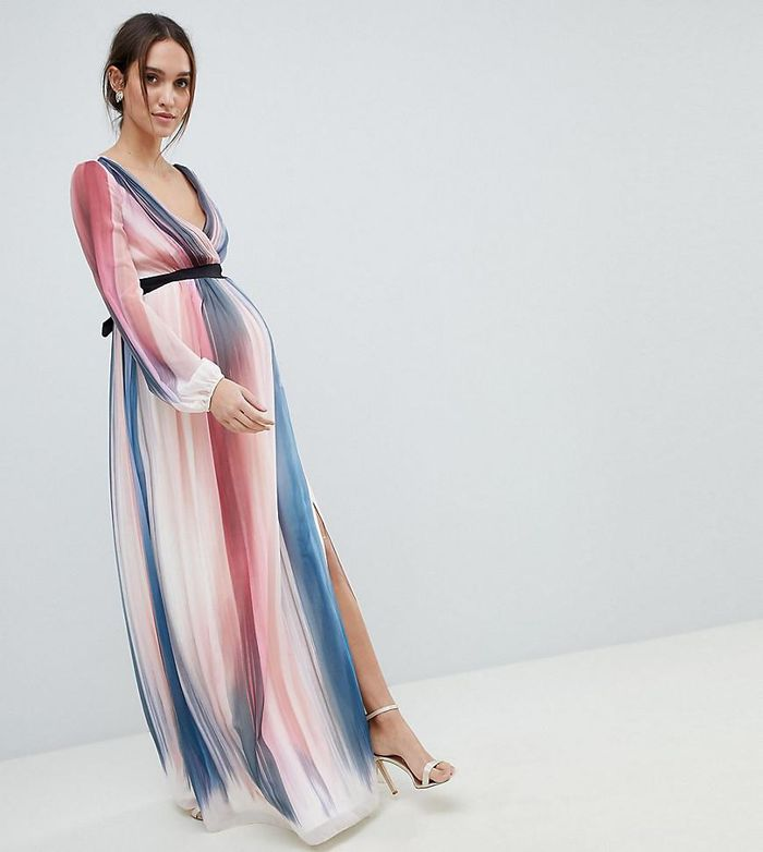 What To Wear To A Wedding When You Re Pregnant Who What Wear