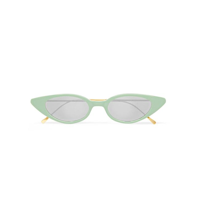 Marianne Cat-Eye Acetate Mirrored Sunglasses