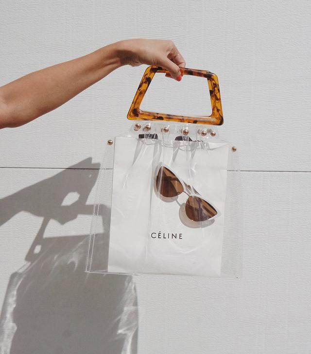 Shop Girl Transparent Tortoiseshell Bag