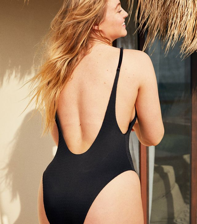 Aerie Smocked One-Piece Swimsuit