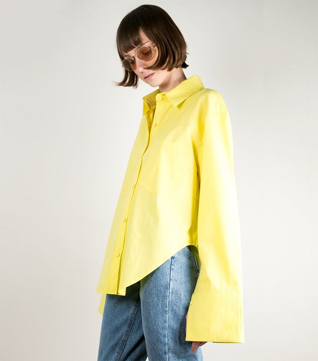 Frankie Shop Canary Yellow Oversized Shirt