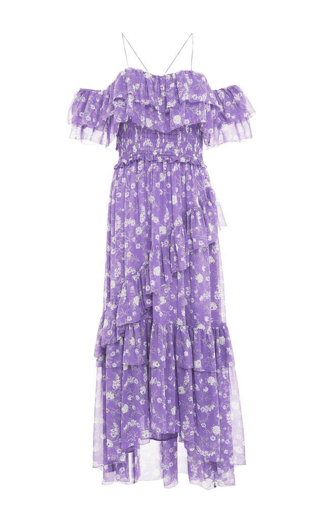 Penninah Cold Shoulder Ruffle Dress