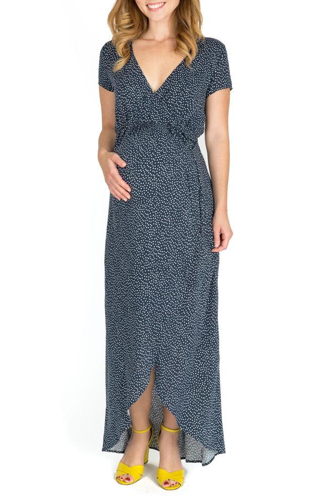 Delilah Maternity/nursing Wrap Maxi Dress