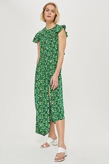Ditsy Deconstructed Midi Dress
