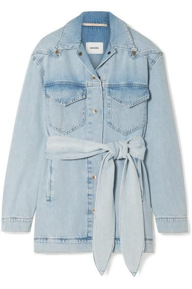 Oversized Belted Denim Jacket