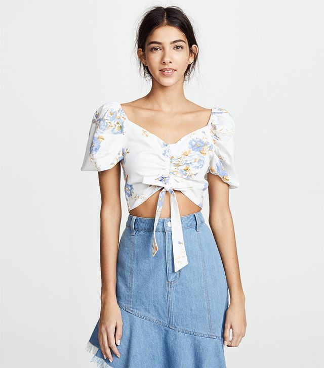 Cesena Ruched Puff Sleeve Top