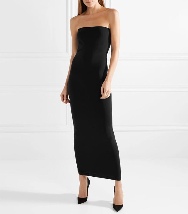 Fatal Strapless Stretch-Jersey Maxi Dress