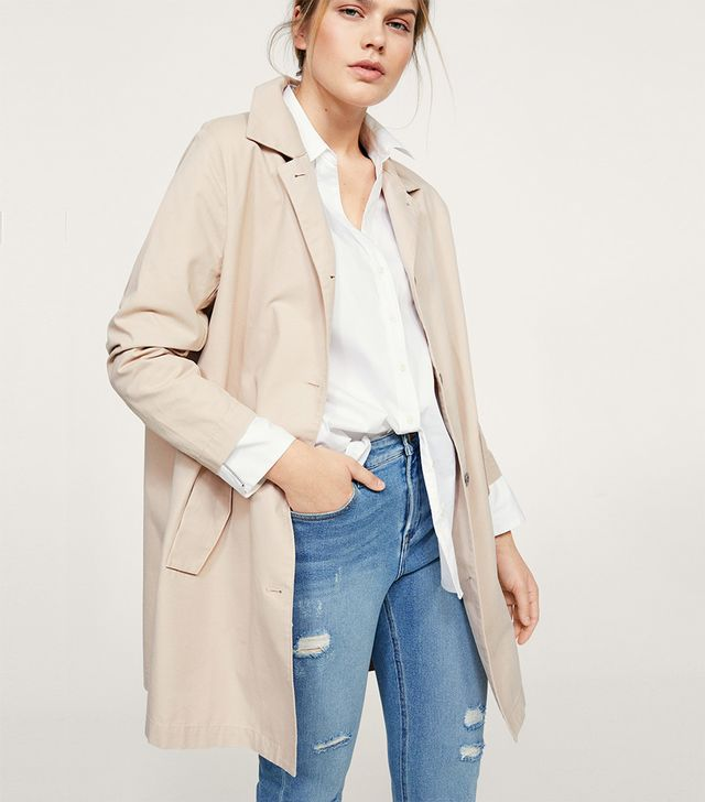 Buttons Cotton Trench
