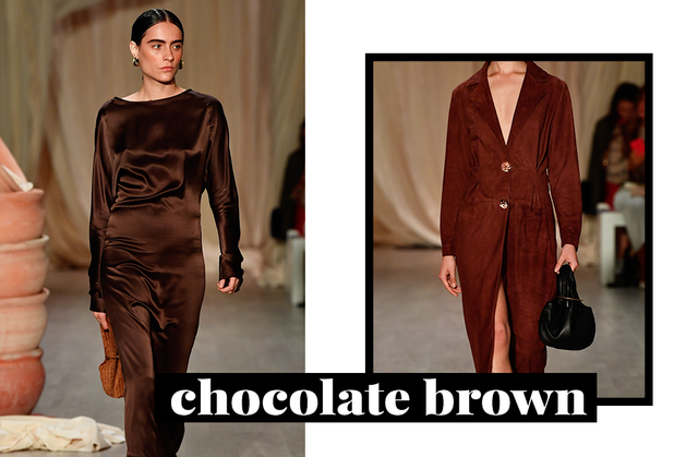 There's a new neutral on the block and we're already obsessed. Introducing: Chocolate brown, the perfect hue to pair with other neutrals for a unique vibe.