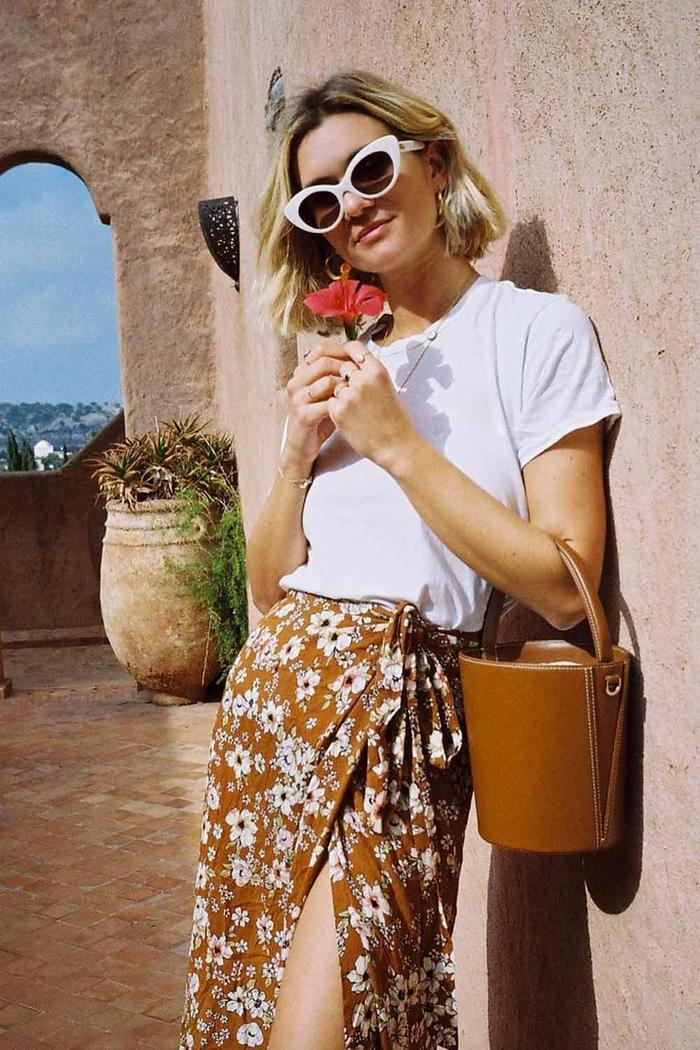 Adenorah in floral skirt