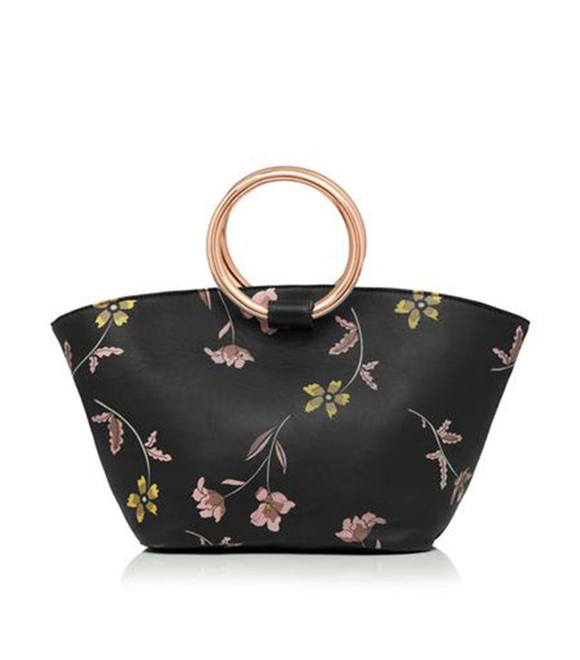 Sarah J. Curtis Penelope Leather Floral Tote