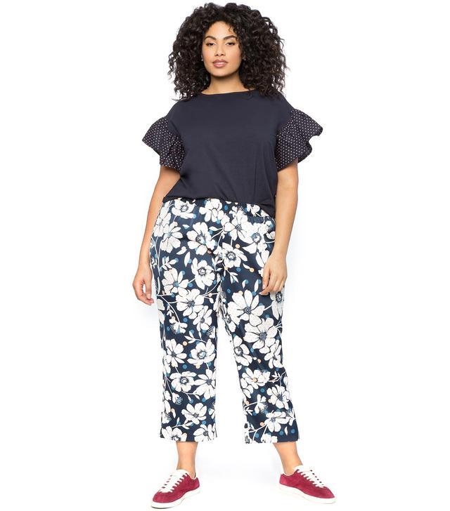 Eloquii Printed Crop Trousers