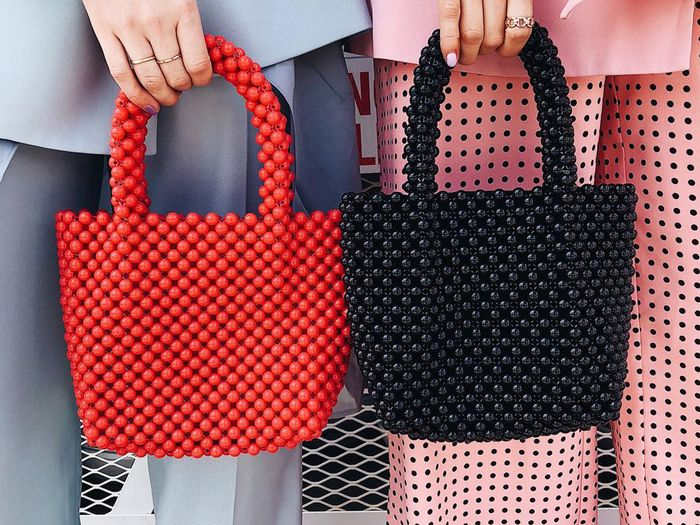 How to style a beaded bag