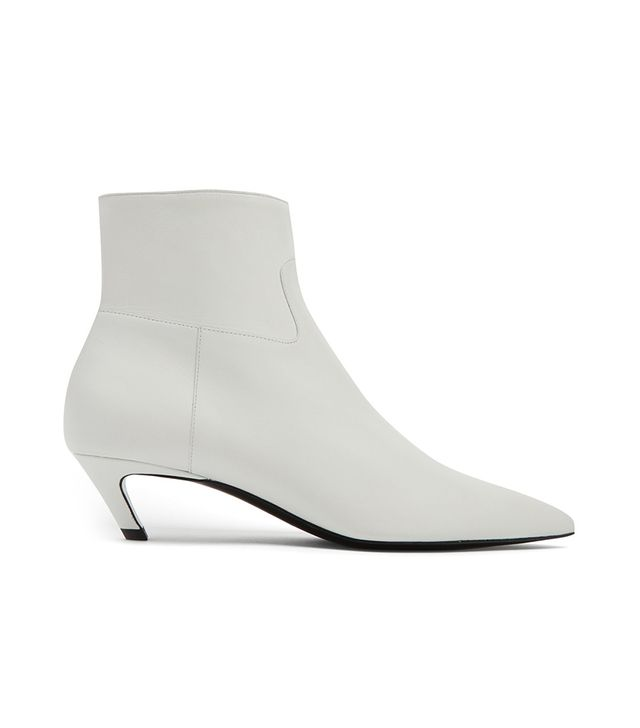 Slash leather bootie