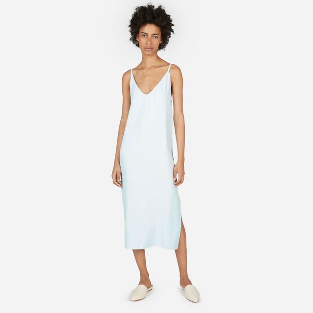 Women's Japanese GoWeave Long Slip Dress by Everlane in Mint, Size 10