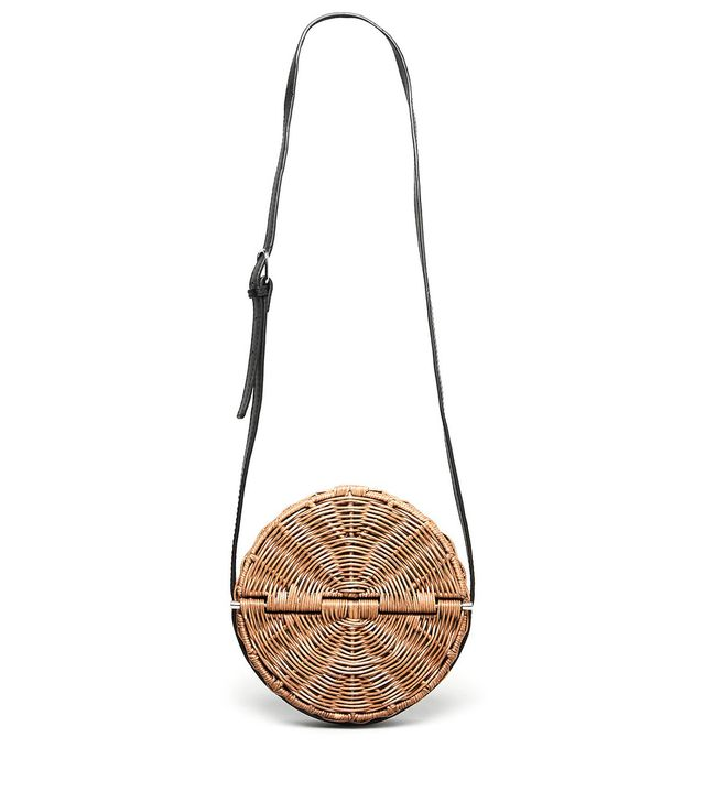 Baan Cloe-Black Washed Wicker Bag