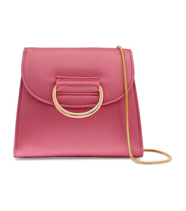 D Tiny Box Satin Shoulder Bag