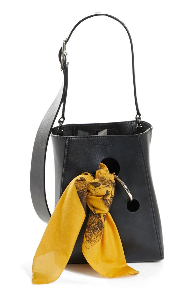 Calvin Klein 205 W39 NYC x Andy Warhol Foundation Small Bucket Bag With Bandana & Removable Pouch in Black