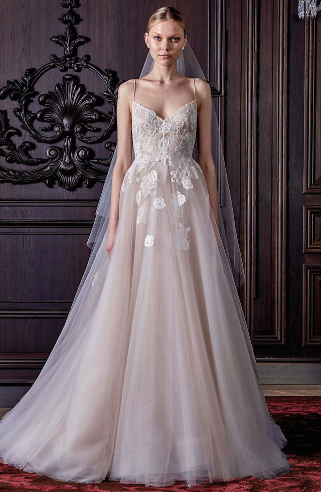 Severine Chantilly Lace & Tulle Gown