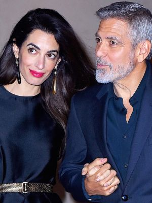 Amal Clooney Celebrated George's Birthday in a Romper and Stilettos