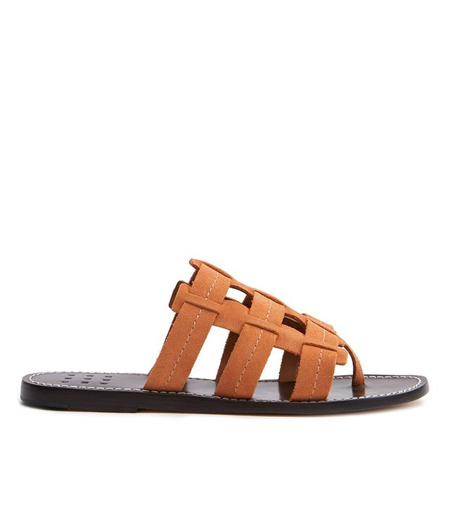 Cage Suede Sandals in Peach