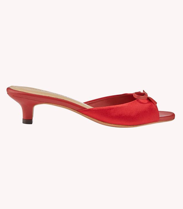 Mari Giudicelli Jeanne satin sandals