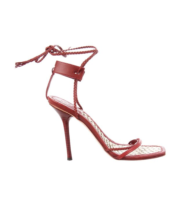 Gucci High Heel Lace-Up Sandals
