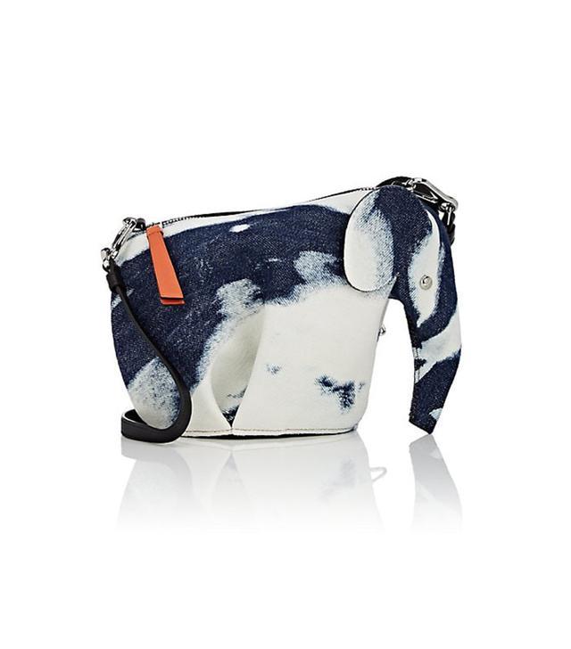 Women's Elephant Denim Crossbody Bag
