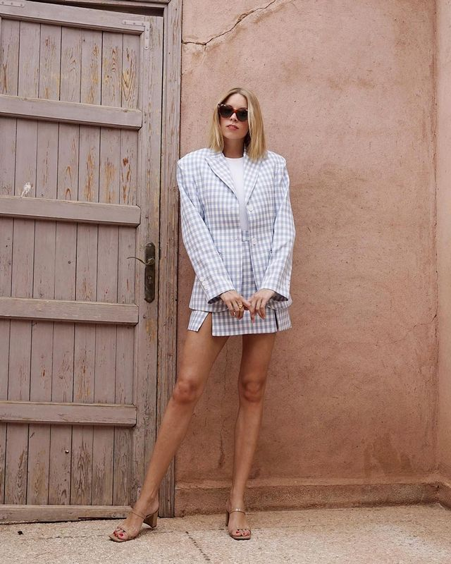 A polished, but far from prim or stuffy, skirt suit is a must-try summer trend.