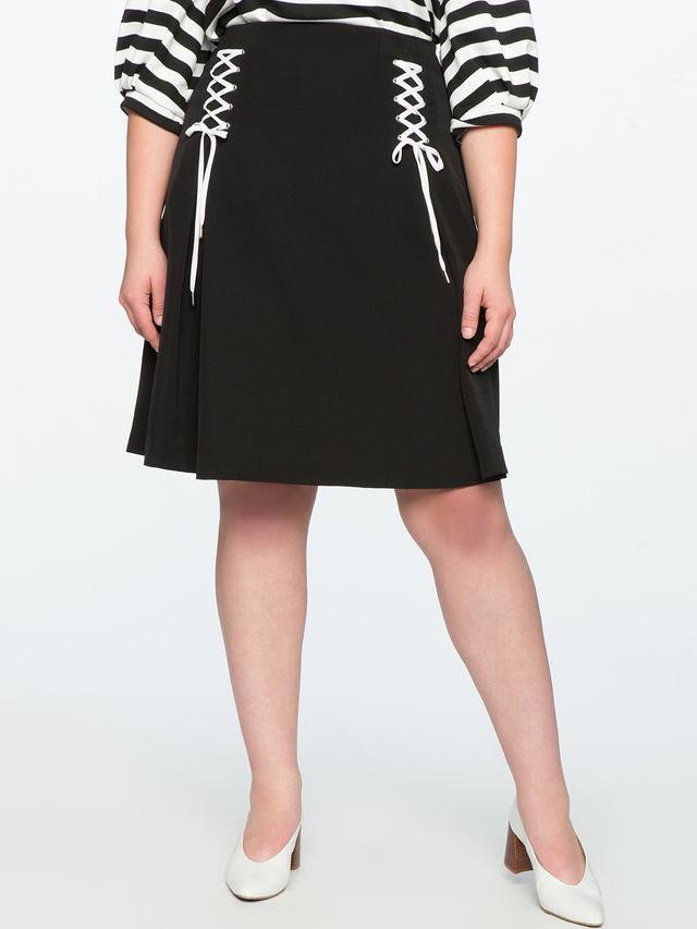 Eloquii Lace Up Circle Skirt
