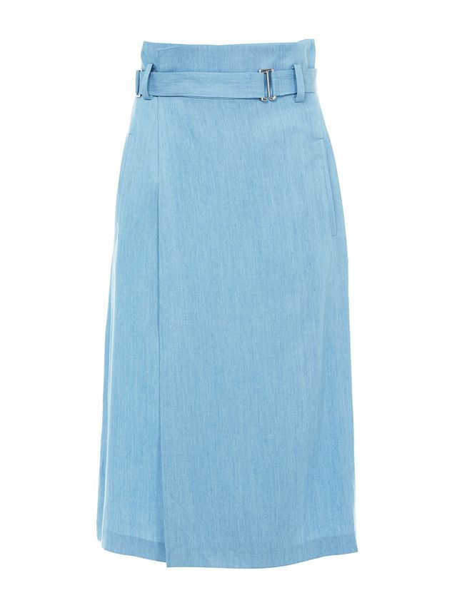 Tibi Chambray Wrap Skirt