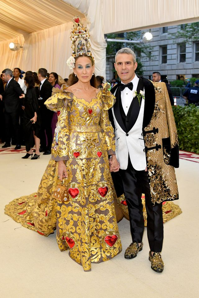 Sarah Jessica Parker and Andy Cohen.