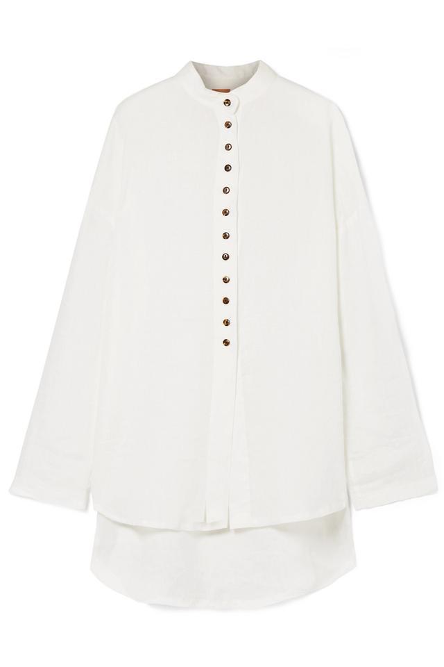 Albus Lumen Sanbina Oversize Linen Shirt