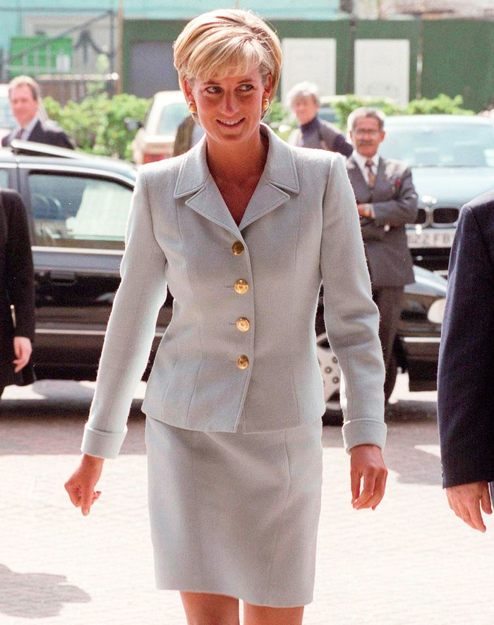 Princess Diana Skirt Suits: Blue