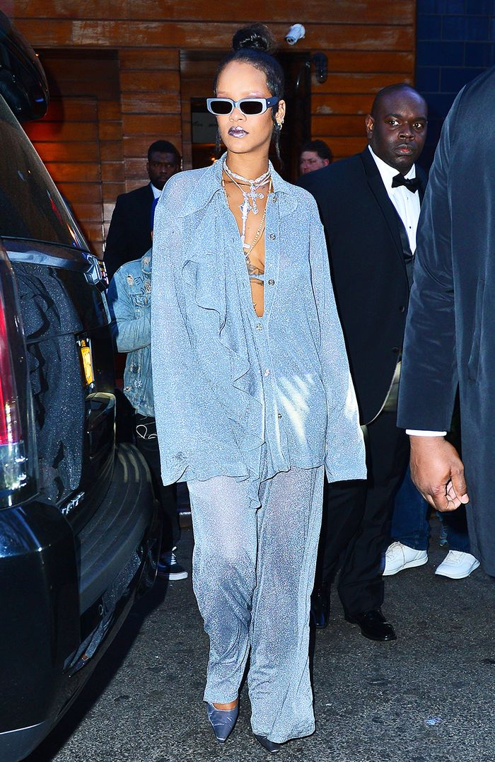 rihanna met gala after party outfit