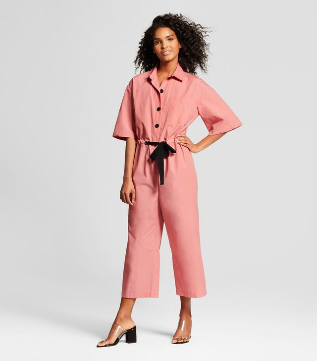 Who What Wear Collection Short Sleeve Belted Jumpsuit