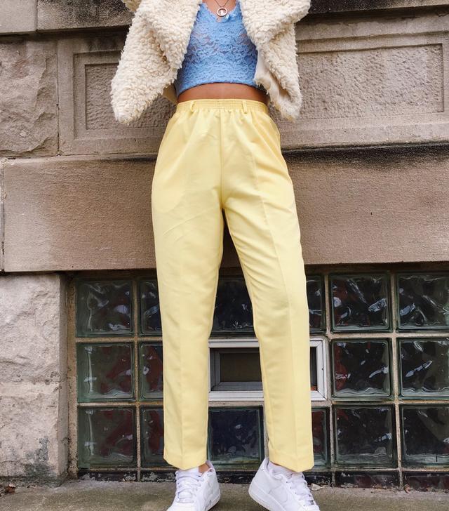Jadadenae Vintage Yellow Trousers