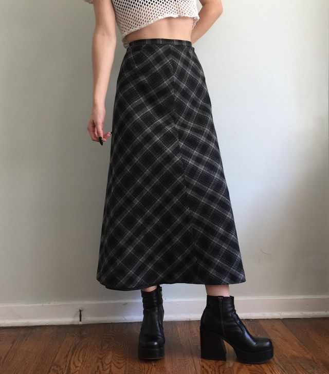 Quarterdead Plaid 90's Skirt
