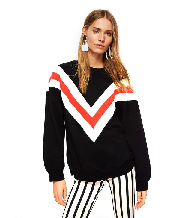 Mango Stripe Oversize Sweatshirt