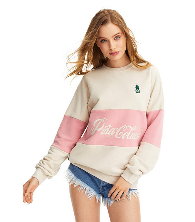 PLNY Lala Pina Colada Creamy Layer Sweatshirt