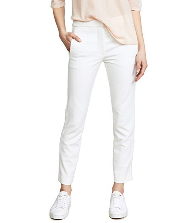 Anson Stretch Cropped Snap Skinny Pants