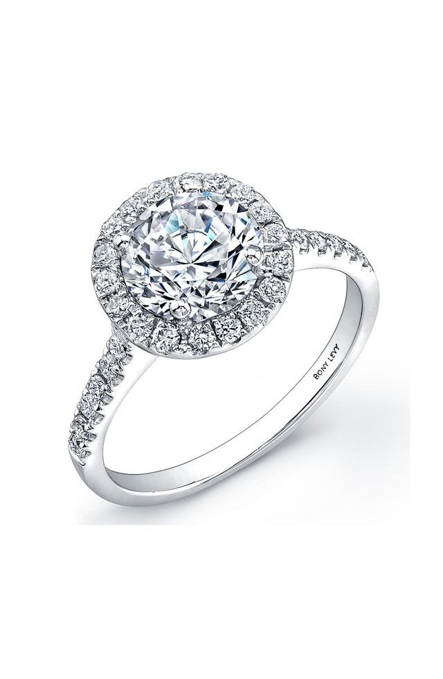 Pave Diamond Leaf Engagement Ring Setting