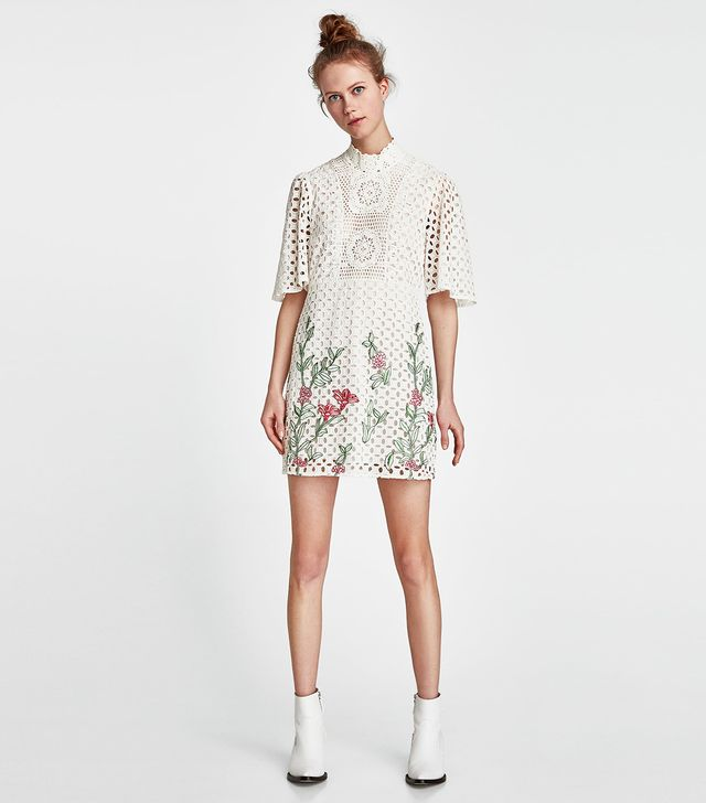 Zara Embroidered Lace Dress